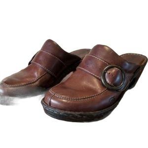 Women's BORN Clog Mule Shoe Brown Size 10